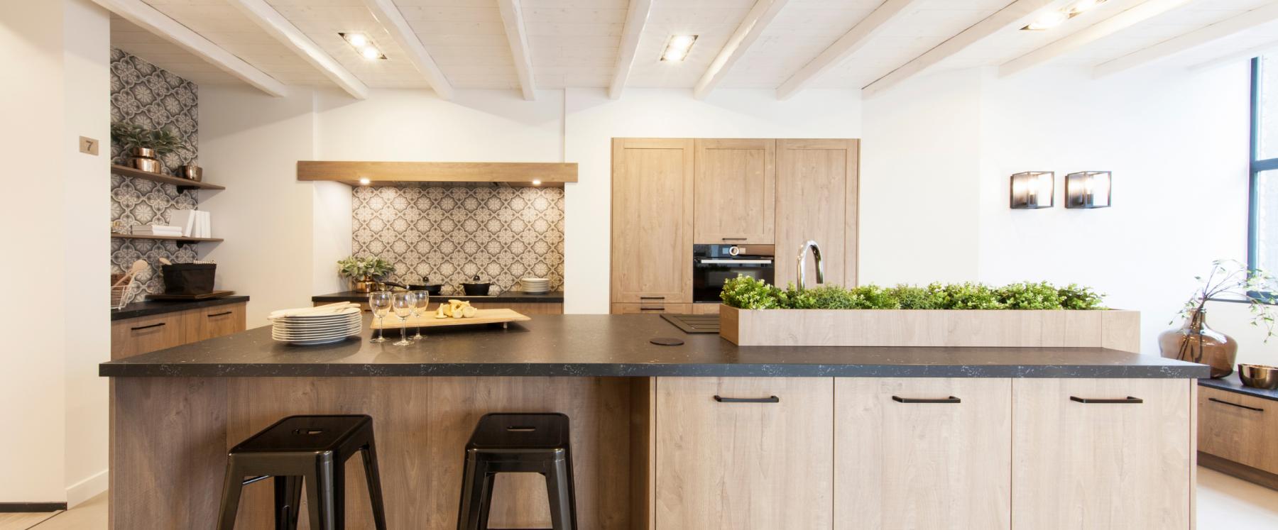 Modern landelijke keuken in cottagestijl
