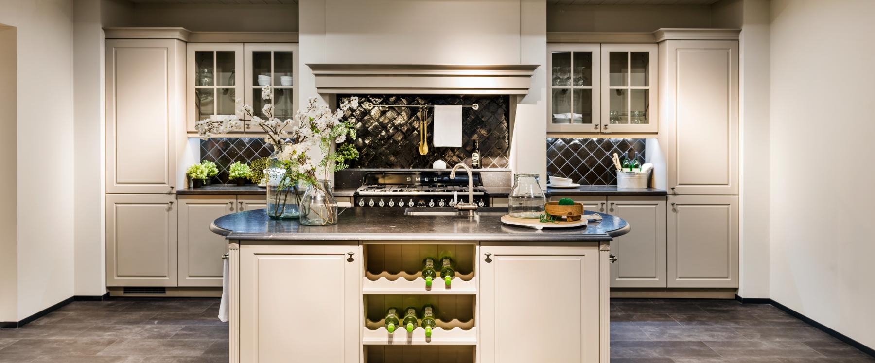 traditionele keuken met authentieke elementen