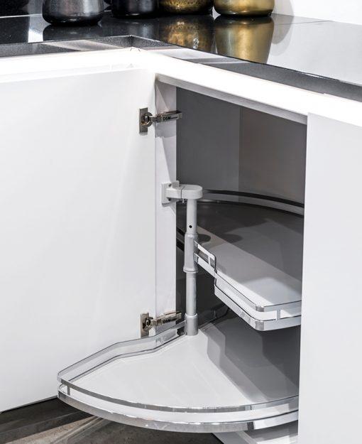 Integreer het Le Mans hoekkastsysteem in jouw keuken voor optimaal gebruik